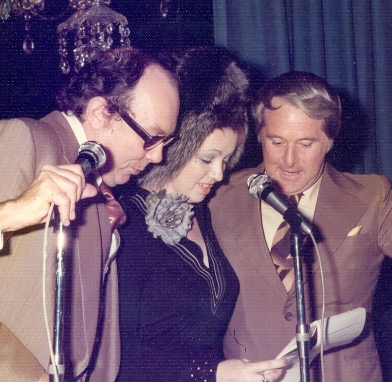 Pida Ripley with Morecambe and Wise